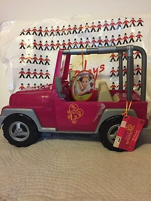"""NEW! Our Generation My Way and Highways 4x4 Jeep Pink and Silver grey -18"""" Doll"""