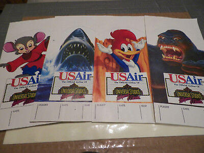 OLD UsAir Universal Studios Ticket Jacket Woody Woodpecker JAWS King Kong Feival