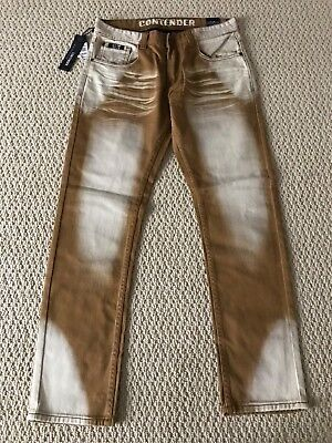 NWT Men's Contender 9FT25 Timber Caramel Stonewashed Slim Straight Jeans 30-40