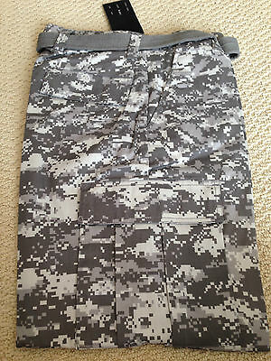 88ce265738 NWT Mens Regal Wear Gray Digital Camouflage Camo Cargo Pants ALL  SIZES/LENGTHS