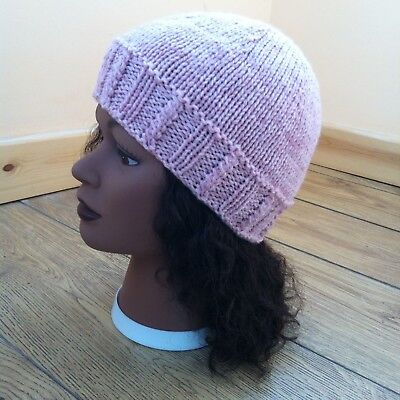 Knitting pattern - Quick & easy ladies aran weight hat with 3 different ribs