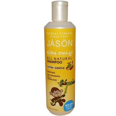 Jason Natural, Kids Only!, Extra Gentle, All Natural, Shampoo, 517 ml