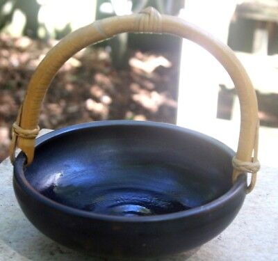 Paddy McNeely Pottery Bowl with Bamboo Handle