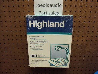 Highland 901 Transparency Film for Copiers. Quantity 55 sheets.