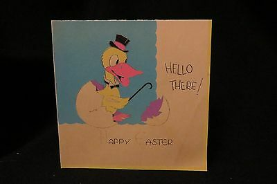 Vintage ART DECO Duck Easter Card c. 1920s UNSIGNED