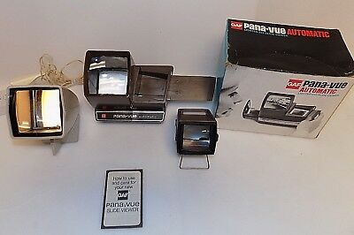 Vintage Gaf Pana-Vue Automatic & # 2 , Sawyers Pana-Vue 1R Slide Viewer Lot