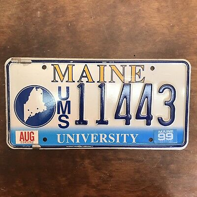 1999 University of Maine License Plate Original Specialty Tag 11443