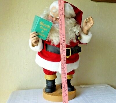 Vintage Animated Coca Cola Santa Claus Reading a Book Second in Series