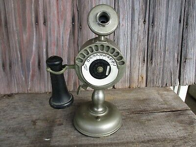 Vintage Automatic Electric Co, Strowger Dial Candlestick Telephone Parts/Repair