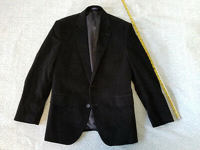 Stafford Mens Black Jacket Suit Blazer Classic Fit Size Medium