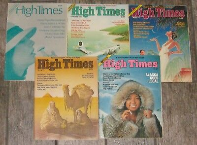 RARE LOT High Times Magazine Premiere Issue#1, 2, 3, 4, 5 First Five Issues