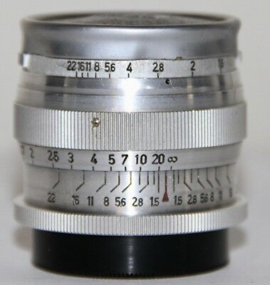 Carl Zeiss Jena Sonnar 1 5cm f/1.5 In Leica M39 Threadmount Germany 1942 RARE
