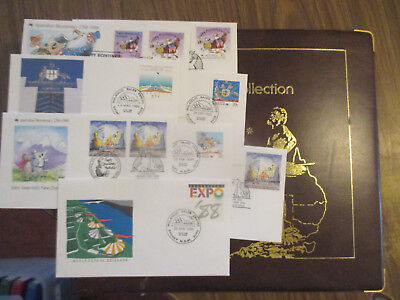N0-6- Aust;  Fdc  Album  -1986  Philatelic  International--Good   Order- 5 Fdc's