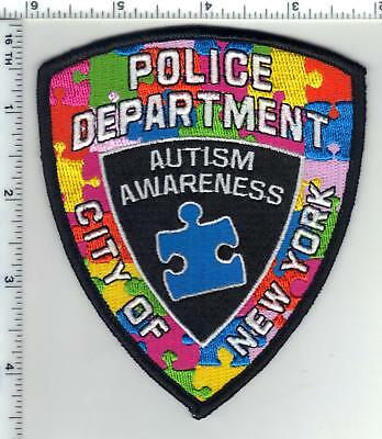 Autism Awarness New York City Police Uniform Patch (may be worn in April)