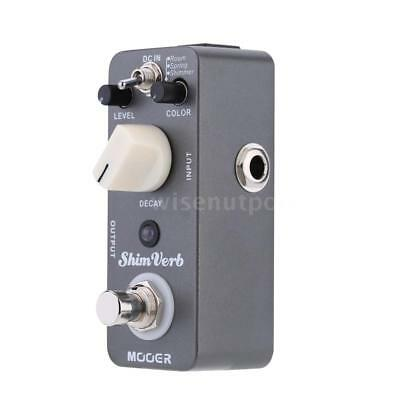 Mooer Shim Verb Micro Mini Digital Reverb Effect Pedal for Electric Guitar T9L2