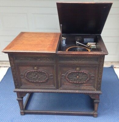 Columbia Grafonola Phonograph Player 1918 - With Built-in Horn Speaker 78 RPM
