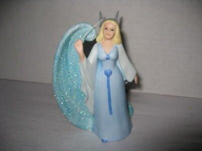 Disney Store Porcelain Blue Fairy with Glitter Swirl from Pinocchio Figurine