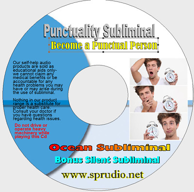 Punctuality Subliminal CD, Get in Time to Your Job,School, Meeting, Date (Ocean)