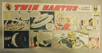 Twin Earths Sunday #6 by A. McWilliams from 4/5/1953 Third Size Page ! Year #1