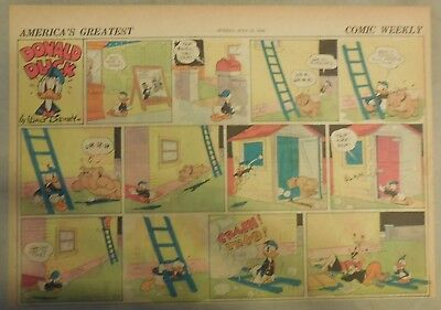 Donald Duck Sunday Page by Walt Disney from 7/14/1940 Half Page Size