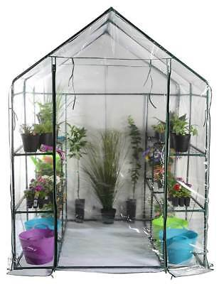 Greenhouse with Eight Wire Shelves [ID 3345357]