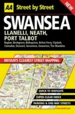 AA Street by Street Swansea by Automobile Association Paperback Book The Cheap