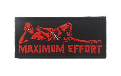 Deadpool Maximum Effort Morale Hook Patch Funny Tactical Military Army Flag USA