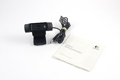 Logitech C920 HD Pro Webcam Widescreen 1080p Video Calling Recording Streaming