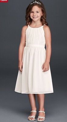 ed68a9a9e017 White, Flower Girl Dress, Size 14, Davids Bridal, Very good condition!
