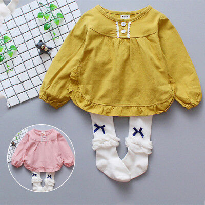 Baby Korean Bottoming Shirt Round Neck Long Sleeve Solid Color Tops Oversize New