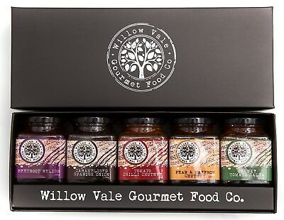 NEW Gift Pack - 5 Assorted Chutneys- WILLOW VALE GOURMET FOOD CO