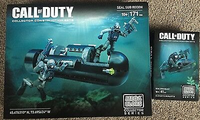 Megablocks Call Of Duty Seal Spezialist CNG72 & Seal Sub Recon CNG80