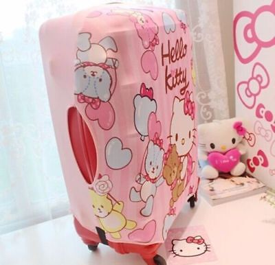 Hello Kitty Travel Luggage Suitcase Protective Cover Travel Accessories Pink