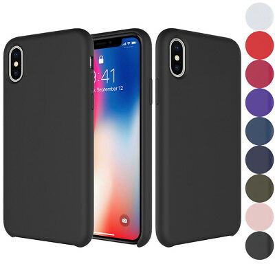 Original Silicone Leather Case For iPhone X XS Max XR 7 8 Plus Genuine OEM Cover