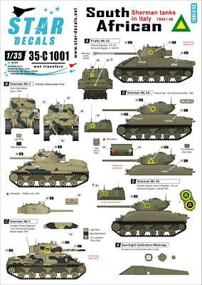 Star Decals 1:35 South African Shermans in Italy Mk.III/IIA Mk.VC #35C1001