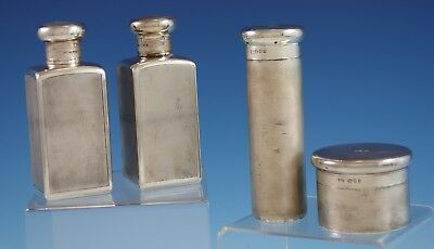 Mappin & Webb English Sterling Silver Grooming Set 4pc c. 1921 (#2871) Vintage