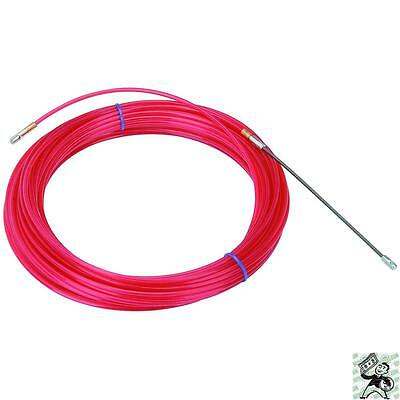 New Red 50ft Nylon Fish Tape Electrical Tools Cable Pullers
