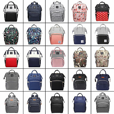 LEQUEEN Waterproof Mummy Nappy Diaper Bag Large Capacity Travel Backpack Bag