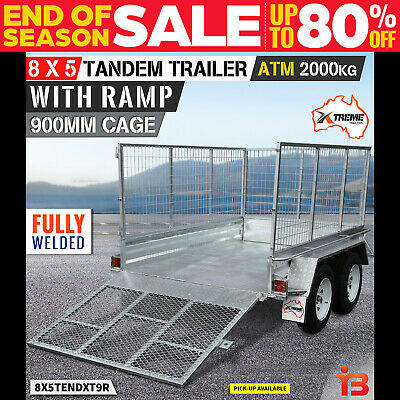 New 8x5 Tandem Axle Trailer with 900 mm Cage and Ramp from Xtreme Trailers