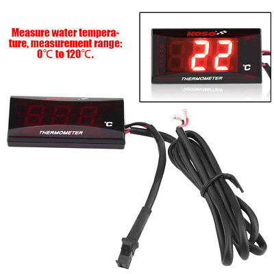 Motorcycle Water Thermometer LED Digital Display Temperature Gauge Universal New
