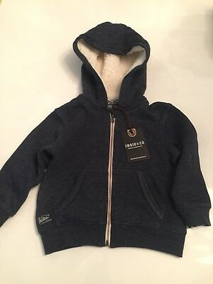 Indie & Co Childs Zip Jacket / Coat With Hood Size 12 Months
