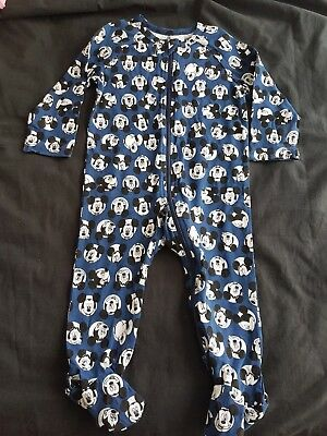 Boys new blue MICKEY MOUSE sleepsuit size 1
