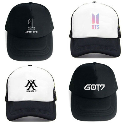 Kpop BTS GOT7 Snapback TWICE Baseball Cap EXO Wanna One Snapback Seventeen  Hat 813d1033fb86
