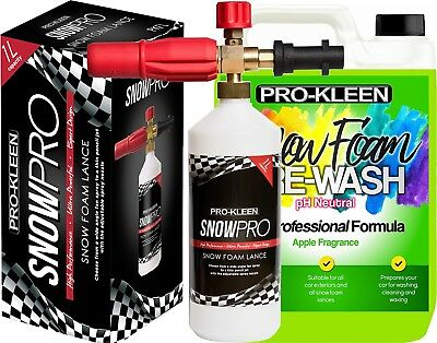 Pro-Kleen Lance Snow Foam Car Candy Cleaning Shampoo pH Neutral Fast delivery 5L