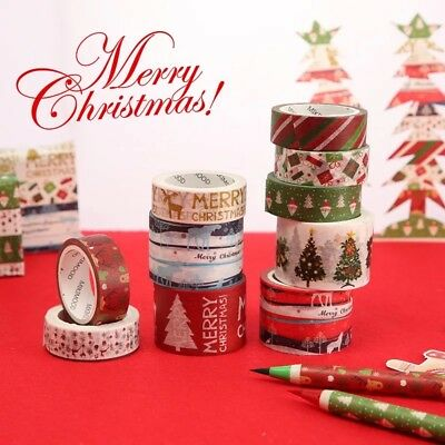 Christmas Washi Tape Adhesive Sticky Paper Masking Tape Scrapbooking Craft Decor