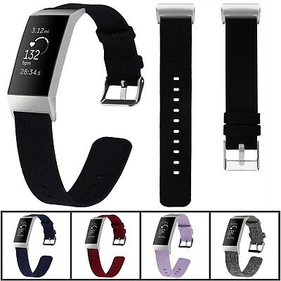 Nylon Wristwatch Strap Replacement Band Bracelet For Fitbit Charge 3 Tracker