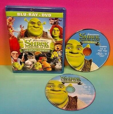 Shrek Forever After (Blu-ray/DVD, 2010, 2-Disc Combo Set) Dream Works Movie