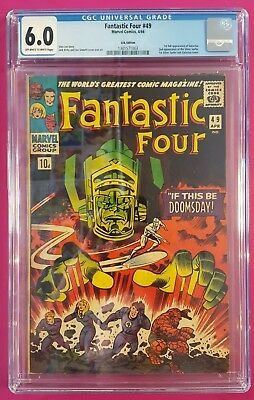 Fantastic Four #49 1St App Full Galactus Cgc Graded 6.0 (Fn)