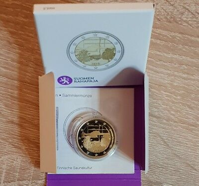 "2E Commemorative Finland 2018 ""Finnish Sauna Culture"" Proof,"