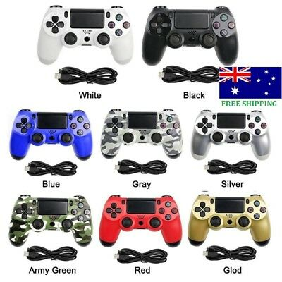 Muticolor LED Playstation Double Shock Wired Gamepad Controller Console for PS4